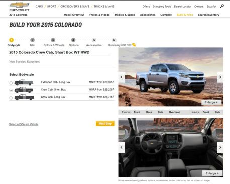 Chevrolet Allowing Customers To U201cBuild Your Ownu201d 2015 Colorado. Sep 19,  2014. Chevrolet Will Be Launching A New U201cBuild ...